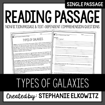 Types of Galaxies Reading Passage