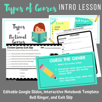 Types of Genres Introduction Lesson
