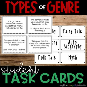 Types of Genres Matching Cards