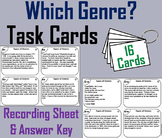 Types of Genres Task Cards 3rd 4th 5th 6th Grade Reading Comprehension Passages