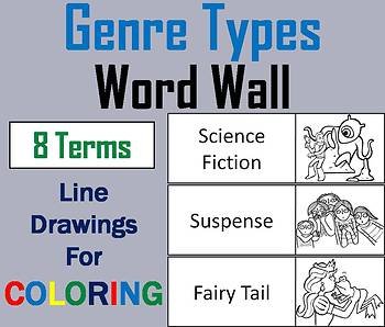 Types of Genres Word Wall Cards