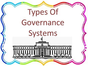 Types of Governance Systems Printable