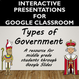 Types of Government Activity for Google Slides- Distance Learning