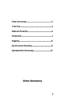 Types of Government Booklet Project with Instruction and Template