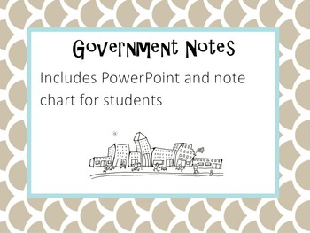 Types of Government Notes and Student Chart
