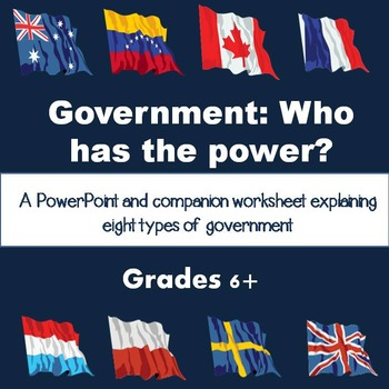 Types of Government PowerPoint and Worksheet