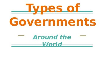 Types of Government Powerpoint