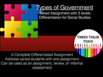 Types of Government Tiered Assignment - U.S. Government -
