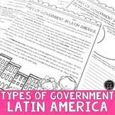 Types of Government in Latin America Reading Activity (SS6CG1, SS6CG1b)
