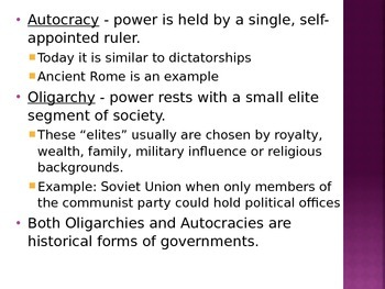 Types of Government/USA government PowerPoint