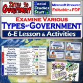 Compare & Contrast Governments 5-E Lesson & Activities | Limited & Unlimited