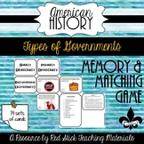Types of Governments Memory/ Matching Game