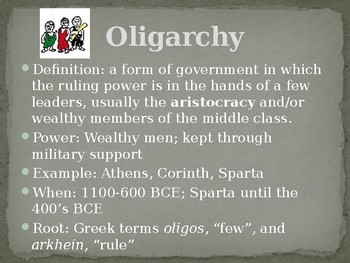 Types of Governments in Ancient Greek