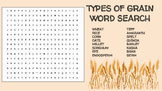 Types of Grain Word Search; FACS, Culinary, Bellringer, Baking, Wheat Crops