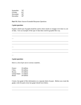 Types of Graphs Quiz and Review Sheet