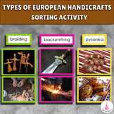 Types of European Handicrafts Sorting Cards