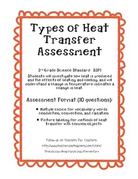 Types of Heat Transfer Assessment Quiz