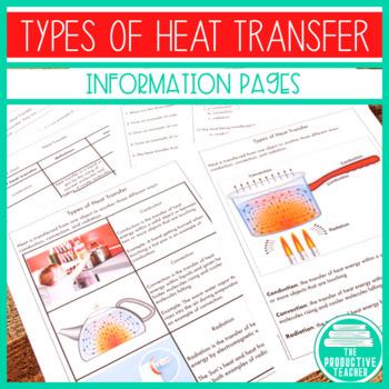 Types of Heat Transfer - Handout/Worksheet