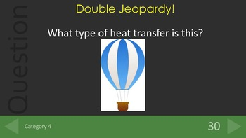 Heat Transfer Jeopardy