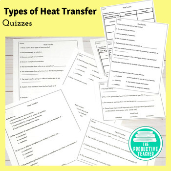 Types of Heat Transfer Quizzes and Test
