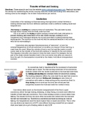 Types of Heat Transfer and Cooking Reading + Poster