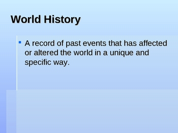 Types of History, Sources and Bias Powerpoint