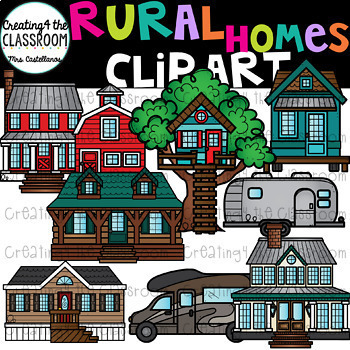 Types of Homes Clip Art Growing Bundle {House Clipart}