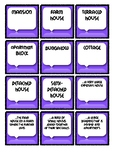 Types of Houses Memory Printable Game