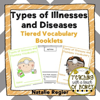 Types of Illnesses and Diseases: Tiered Vocabulary Booklets