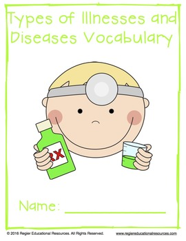 Vocabulary Activities | Illness Vocabulary | Types of Diseases and Illnesses