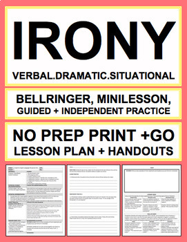 Types of Irony in Literature No Prep Introductory Lesson & Worksheets