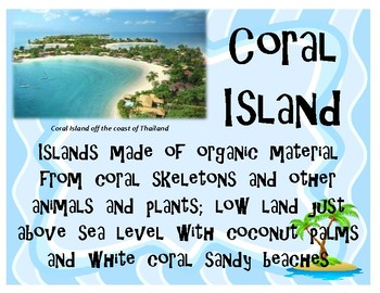 Types of Islands Vocabulary Word Wall