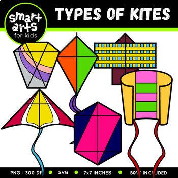 Types of Kites Clip Art
