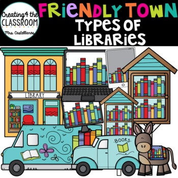 Types of Libraries Clipart {Library Clip art}