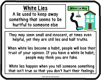 Types of Lies Town (teaching students what it means to lie)