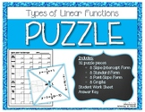 Multiple Representations of Linear Functions PUZZLE!