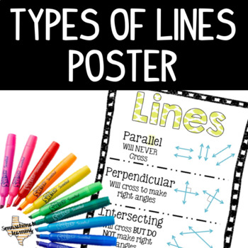 Types of Lines Anchor Chart