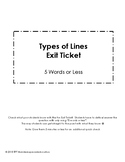 Types of Lines Exit Ticket:  Parallel, Perpendicular, Inte