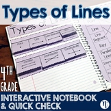 Types of Lines Interactive Notebook Activity & Quick Check