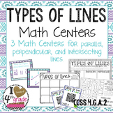 Types of Lines Math Centers