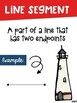 Types of Lines Math Posters with a Nautical Theme