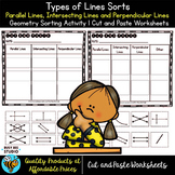 Types of Lines (Parallel, Intersecting, Perpendicular)  Cut and Paste Worksheets