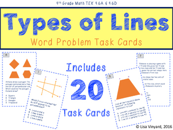 Types of Lines - Word Problem Task Cards