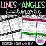 Types of Lines and Angles Bookmarks