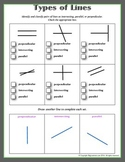 Types of Lines ( parallel, intersecting, or perpendicular)