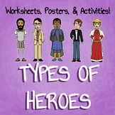 Types of Literary Heroes Worksheets & Posters