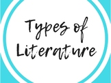 Types of Literature Posters