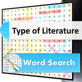 Types of Literature word search puzzle