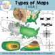 Types of Maps Clip Art (USA)