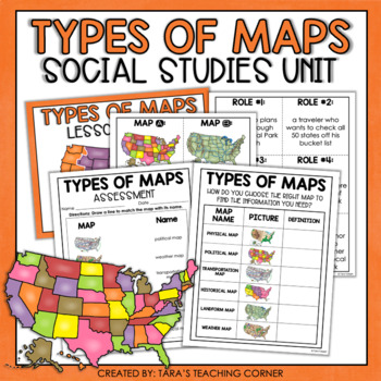 Types of Maps- Complete Lesson (No Prep)